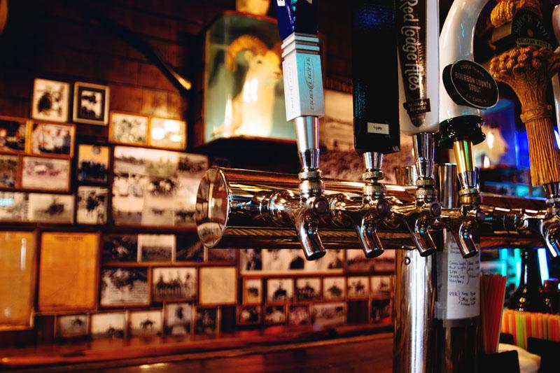 Mint Bar Historic Photos with Taxidermy