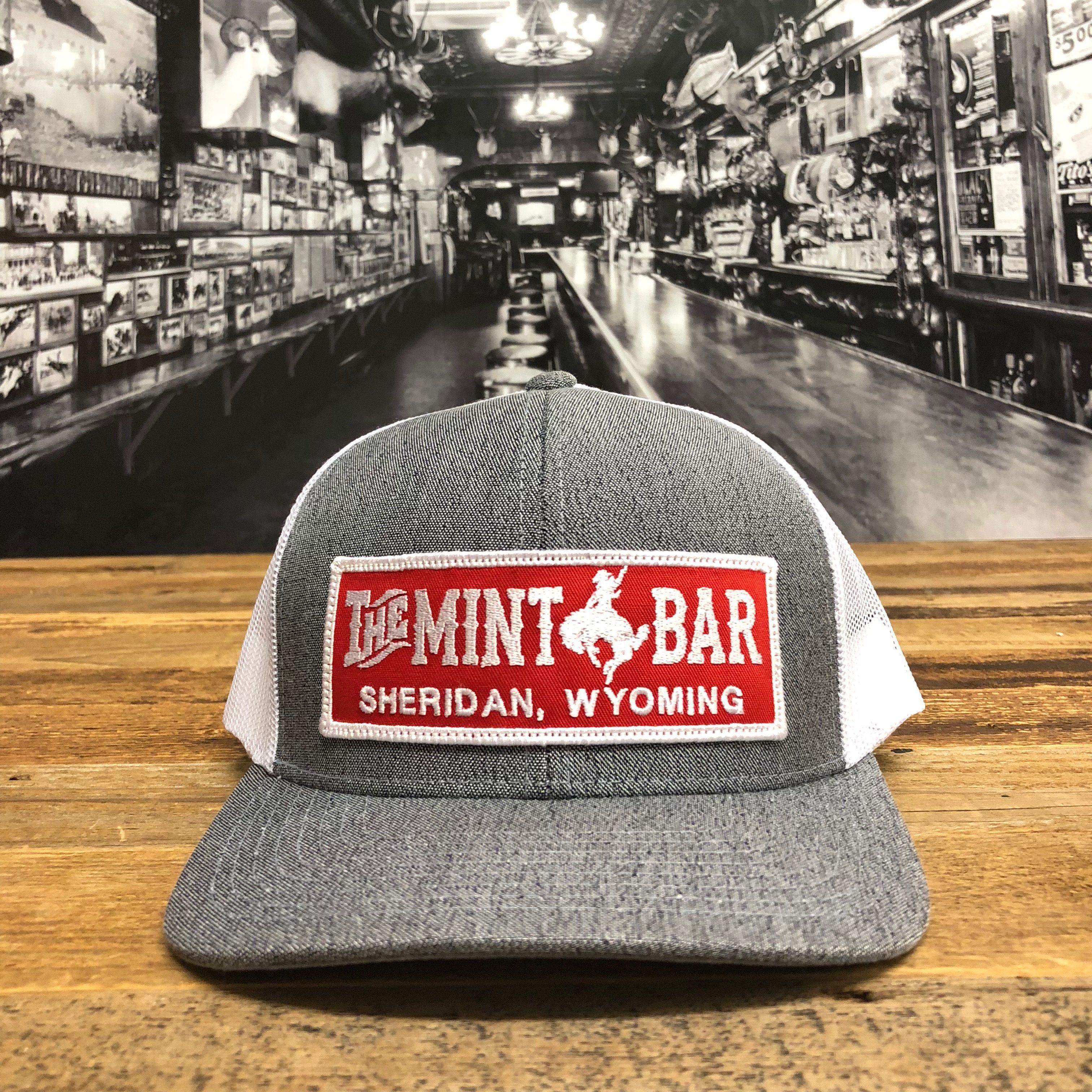 Mint Bar Large Emblem Grey Mesh Hat